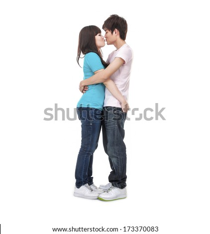 Full body Romantic young couple in love  - stock photo