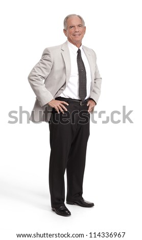 Full body shot of a well dressed businessman - stock photo