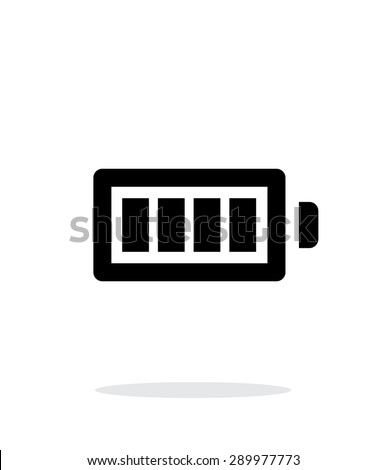 Full charge battery simple icon on white background. - stock photo