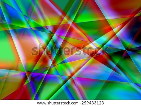 full-color abstract geometric background - stock photo