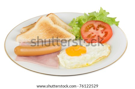 Full fill your energy in the beginning of the day with american style breakfast - stock photo