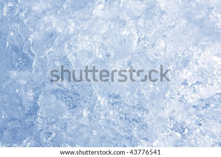 Full frame ice background, frozen water, blue - stock photo