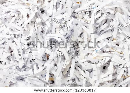 Full frame image of shredded newspaper. - stock photo