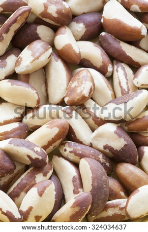 Full Frame Shot Of Shelled Brazil Nuts - stock photo