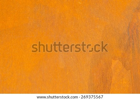 Full frame take of rust on a metal sheet - stock photo