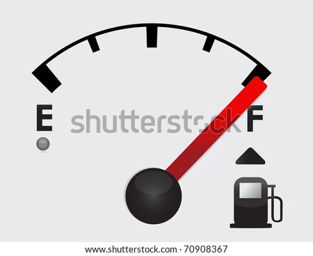 Full gas tank detail illustration design with icons - stock photo