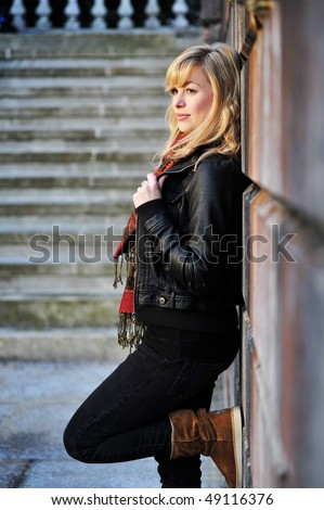 Full Length Fashion Portrait - stock photo