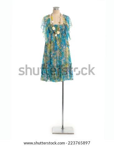 Full length female sundress on mannequin  - stock photo