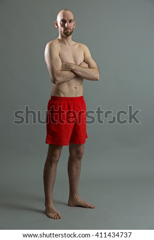 Full length fitness man - stock photo