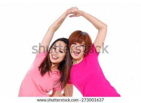 Full length image of a casual girl having fun  - stock photo