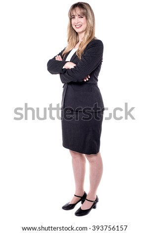 Full length image of a middle aged business woman - stock photo