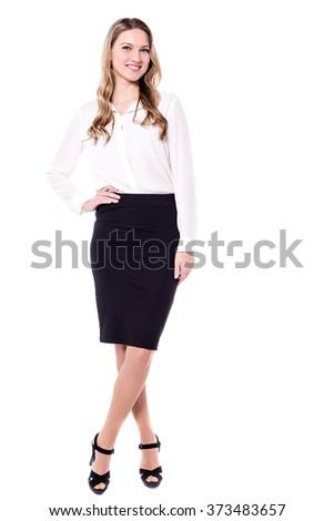 Full length image of a Stylish business executive - stock photo