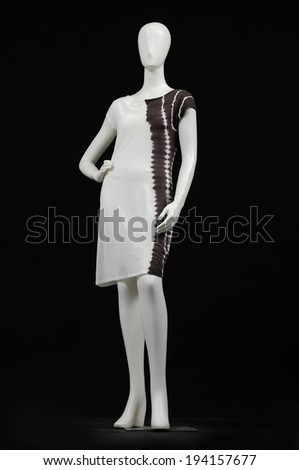 full-length mannequin dressed in female fashion clothes - stock photo