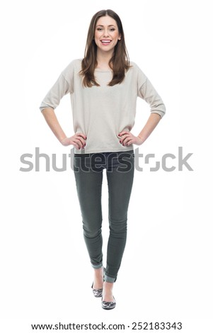 Full length of attractive young woman - stock photo
