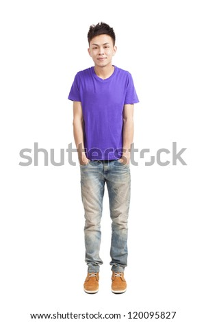 full length of stylish young  man - stock photo