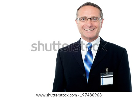 Full length portrait of a businessman standing  - stock photo