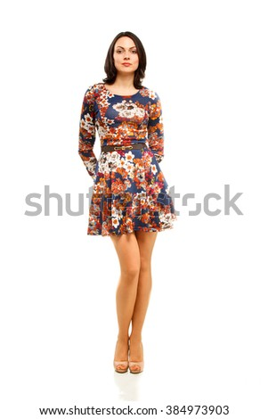 Full length portrait of a confident young business woman - stock photo