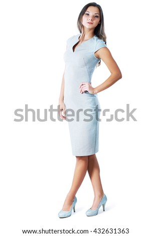 Full length portrait of a confident young female - stock photo