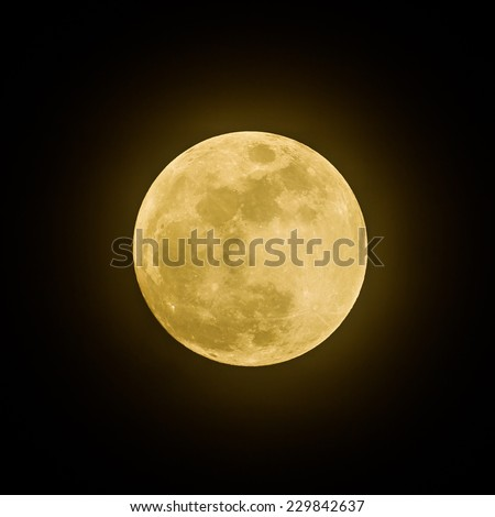 Full moon for background use - stock photo