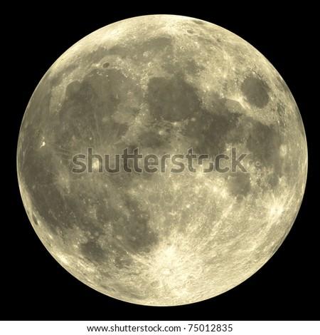 Full Moon - yellow - stock photo