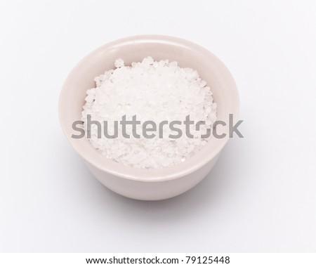full salt castor isolated on white background - stock photo