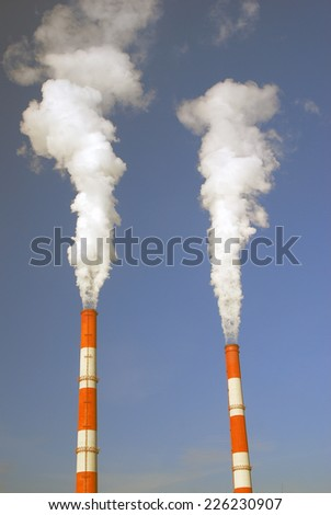 Fuming tubes. - stock photo