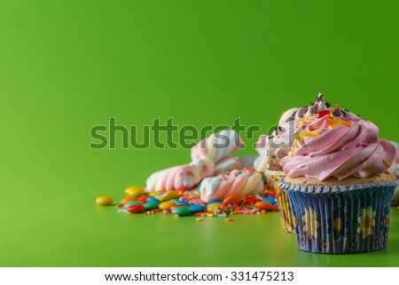 Fun and sweet greeting card. Party card decoration concept - stock photo