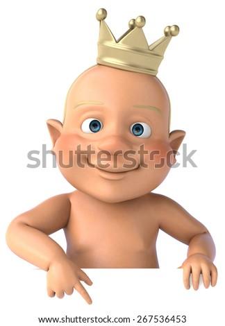 Fun baby - stock photo