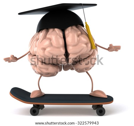 Fun brain - stock photo