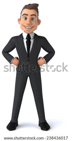 Fun businessman - stock photo
