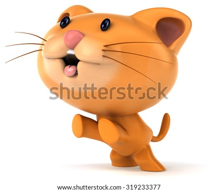 Fun cat - stock photo