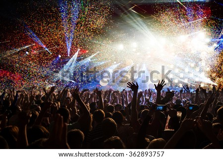 Fun concert party disco light background - stock photo