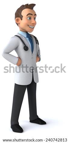Fun doctor - stock photo