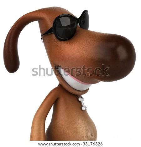 Fun dog - stock photo