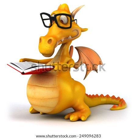 Fun dragon - stock photo
