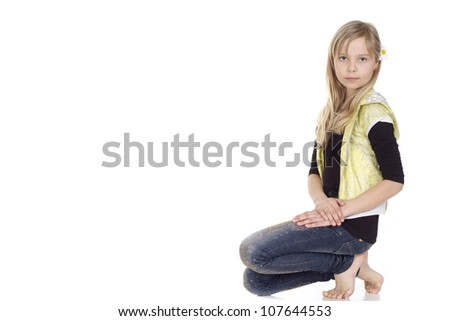 Fun female  showed herself in the photos in all her glory - stock photo