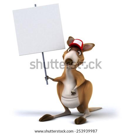 Fun kangaroo - stock photo