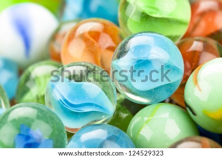 Fun marble balls - stock photo