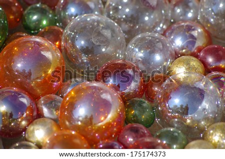 Fun marble balls marbles glass - stock photo