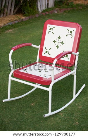 Fun retro lawn settings from Mexico - stock photo