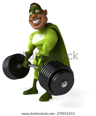 Fun superhero - stock photo