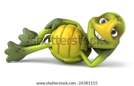 Fun turtle - stock photo