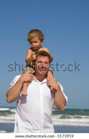 Fun with dad - stock photo