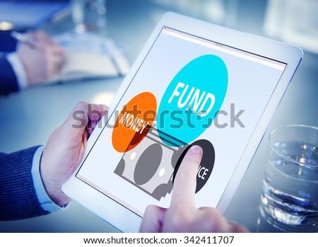Fund Budget Business Finance Money Profit Wealth Concept - stock photo