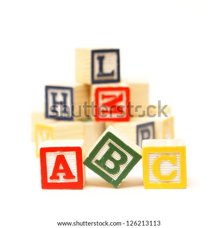 Fundamentals to any early childhood education starts with the alphabet. - stock photo