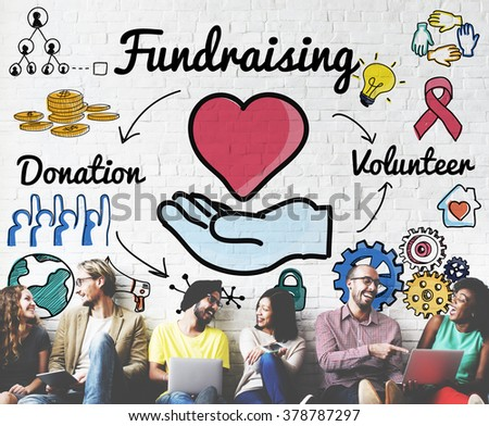 Fundraising Donation Heart Charity Welfare Concept - stock photo