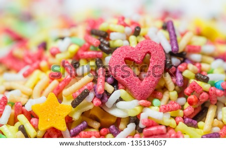 Funfetti for toppings - stock photo