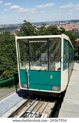 Funicular in Prague - stock photo
