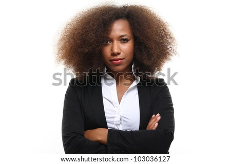 Funky afro lady - stock photo