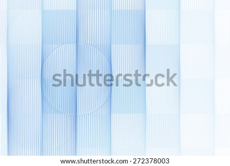 Funky blue  checkered string / wire design on white background  - stock photo